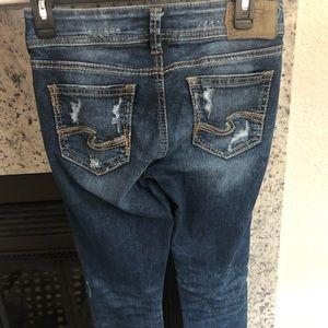 Silver Suki Jeans, Size 25